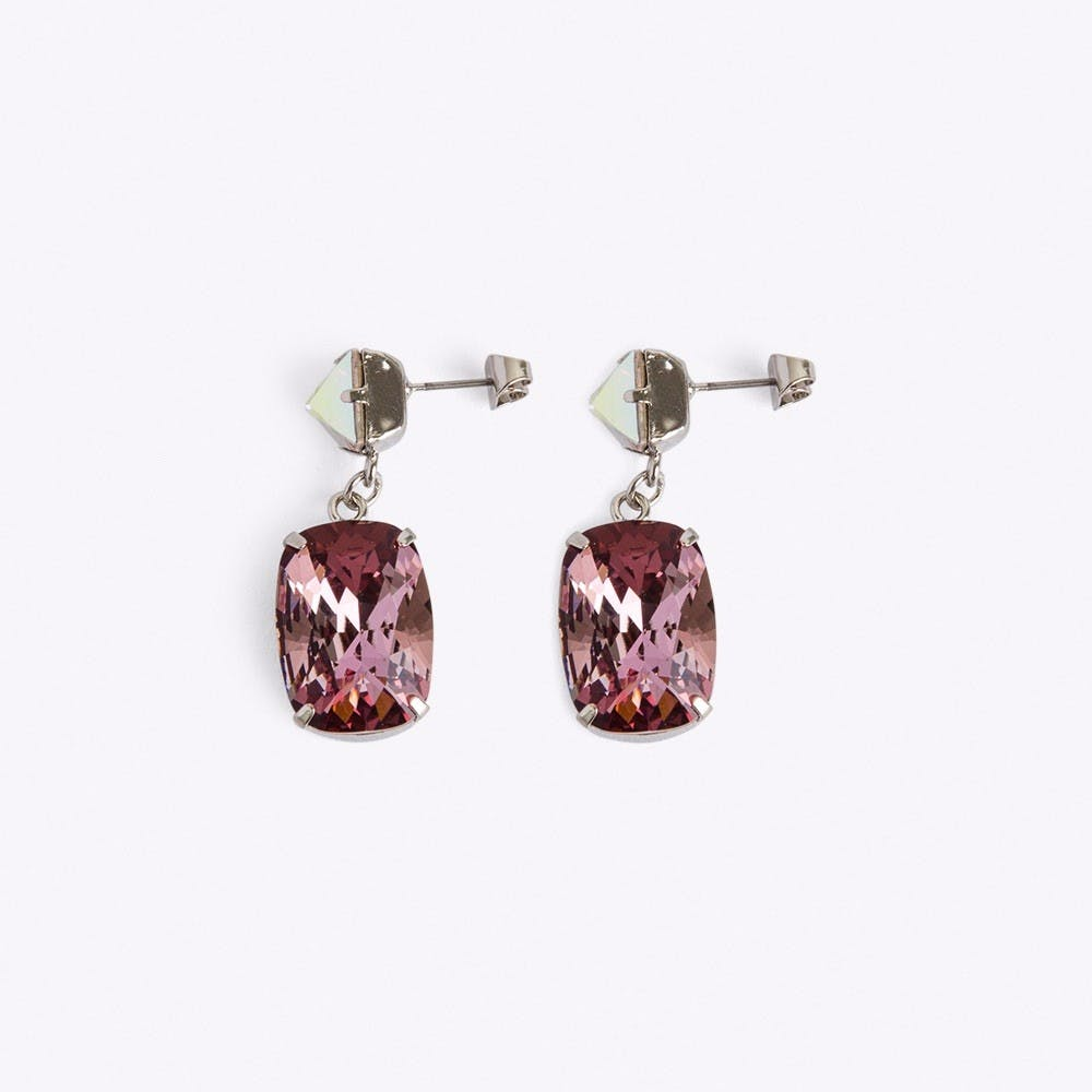 Stone Earrings in Antique Pink