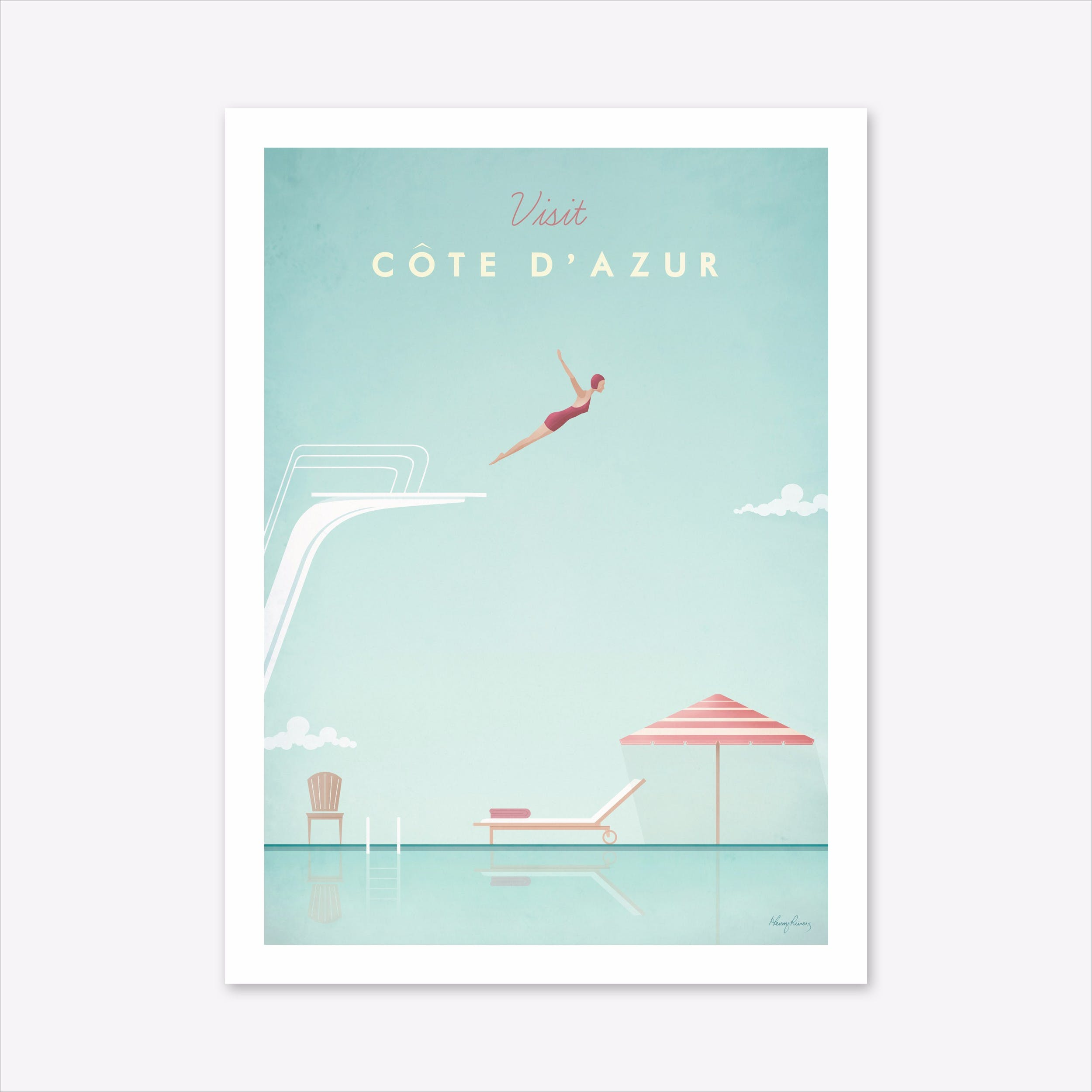 Visit Cote d'Azur Art Print