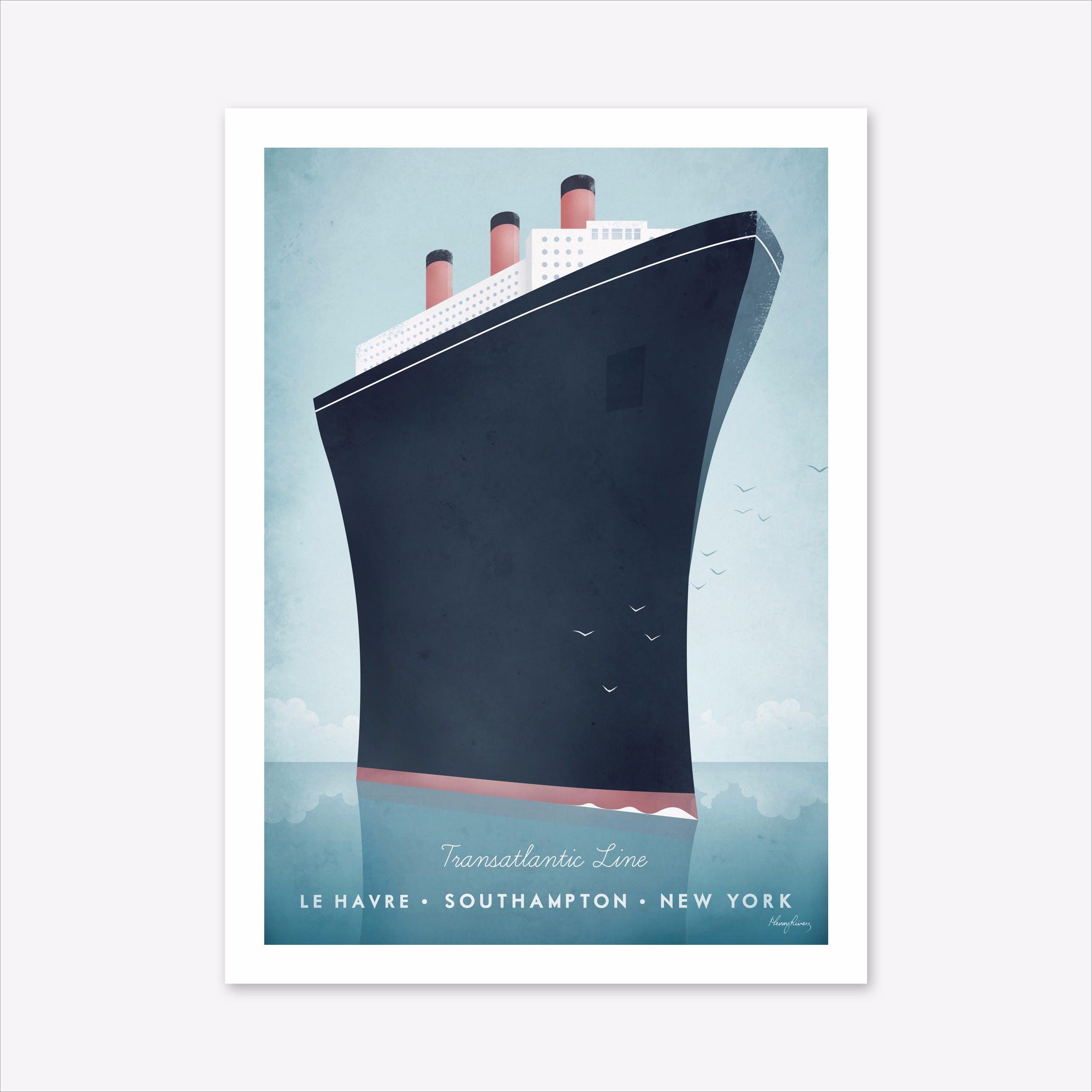 Visit Ocean Liner Art Print
