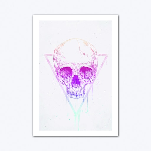 Skull In Triangle Art Print