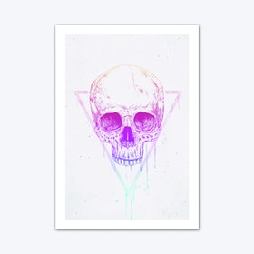 Skull In Triangle Art Print