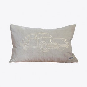 Porsche Cream Cushion Cover