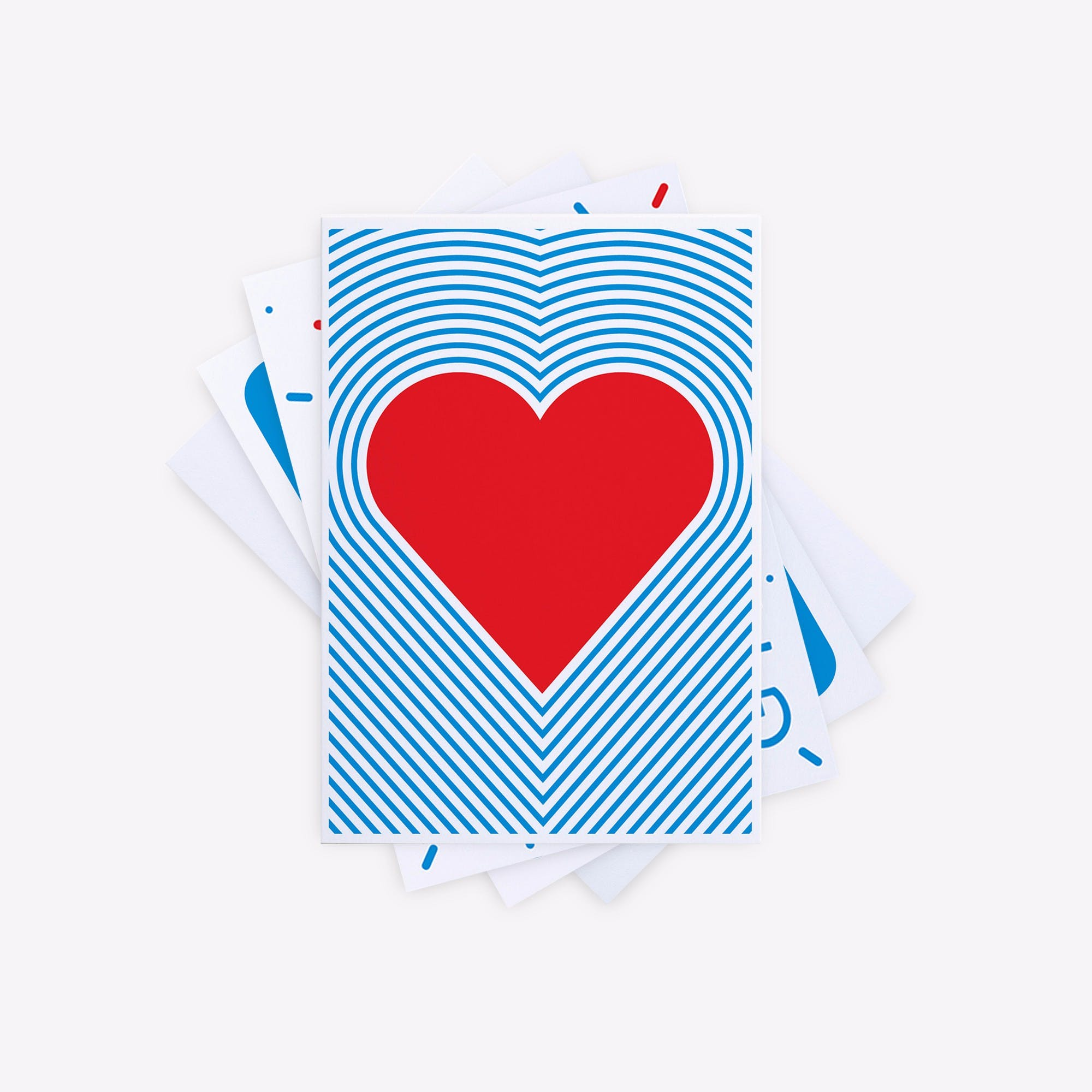 Hearts & Thanks Set of 4 Screen Printed Cards