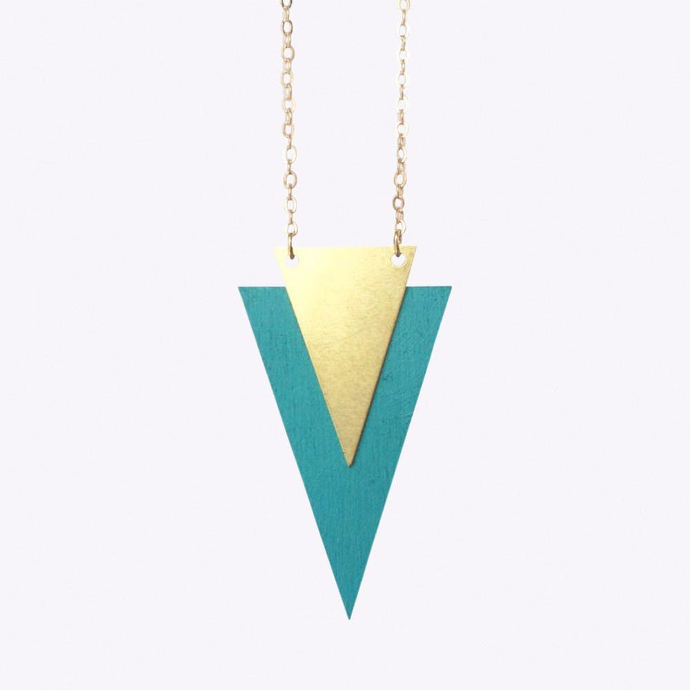 Apposition Necklace in Turquoise