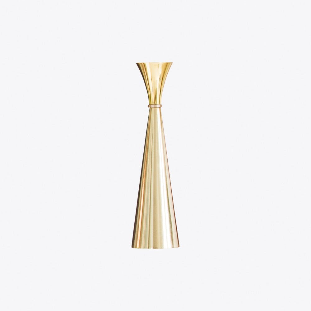 Lydia Small Brass Candleholder