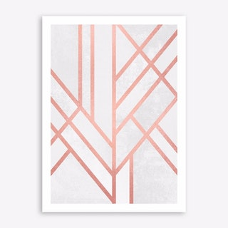 Art Deco Rose Gold Art Print