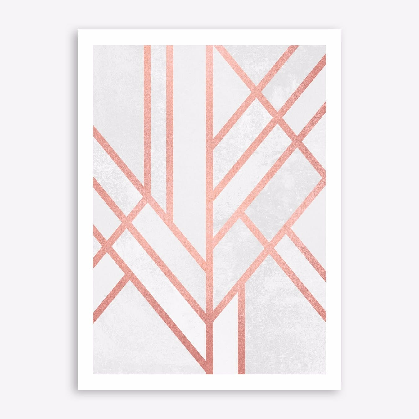 Art Deco Rose Gold Print