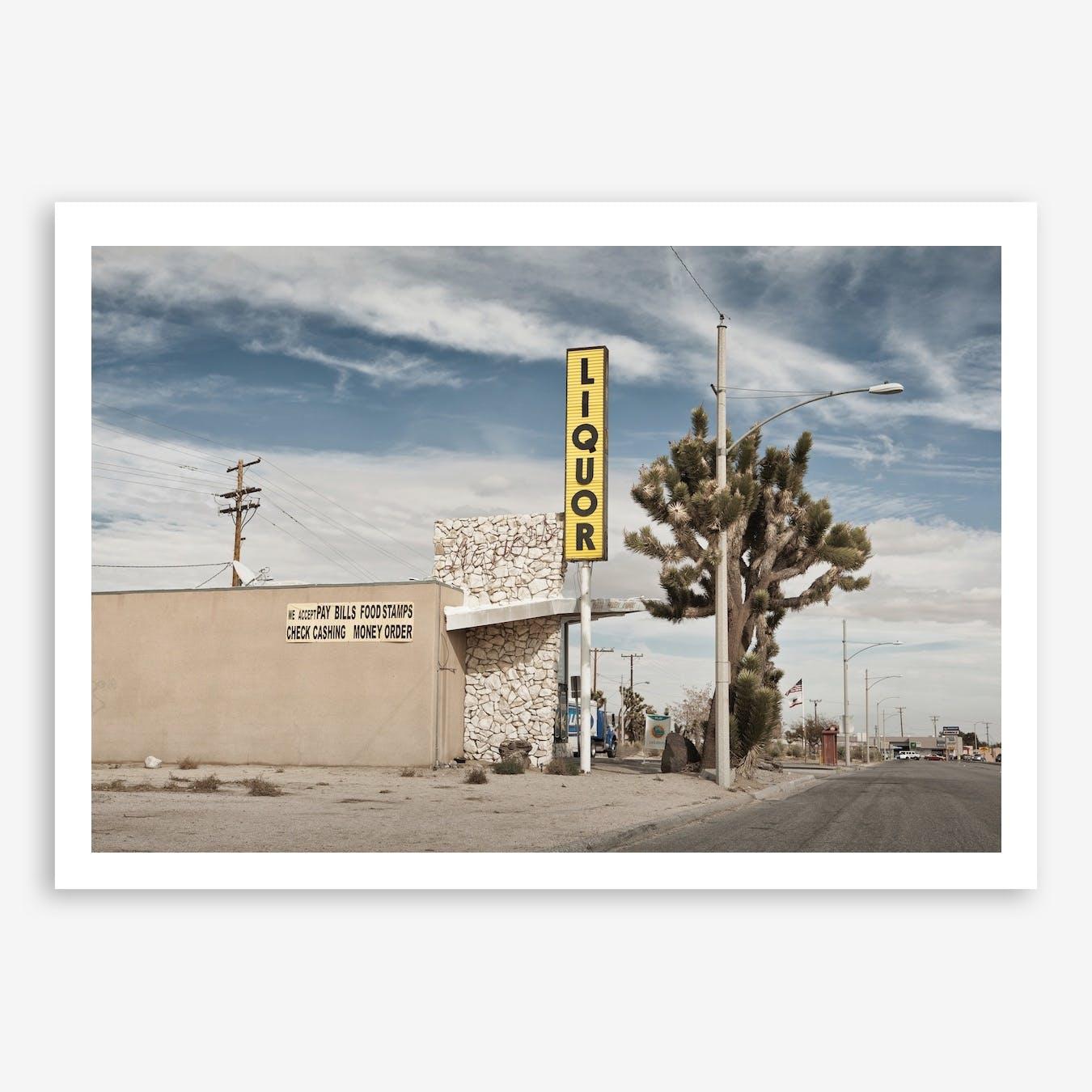Liquor Store Yucca Valley Art Print