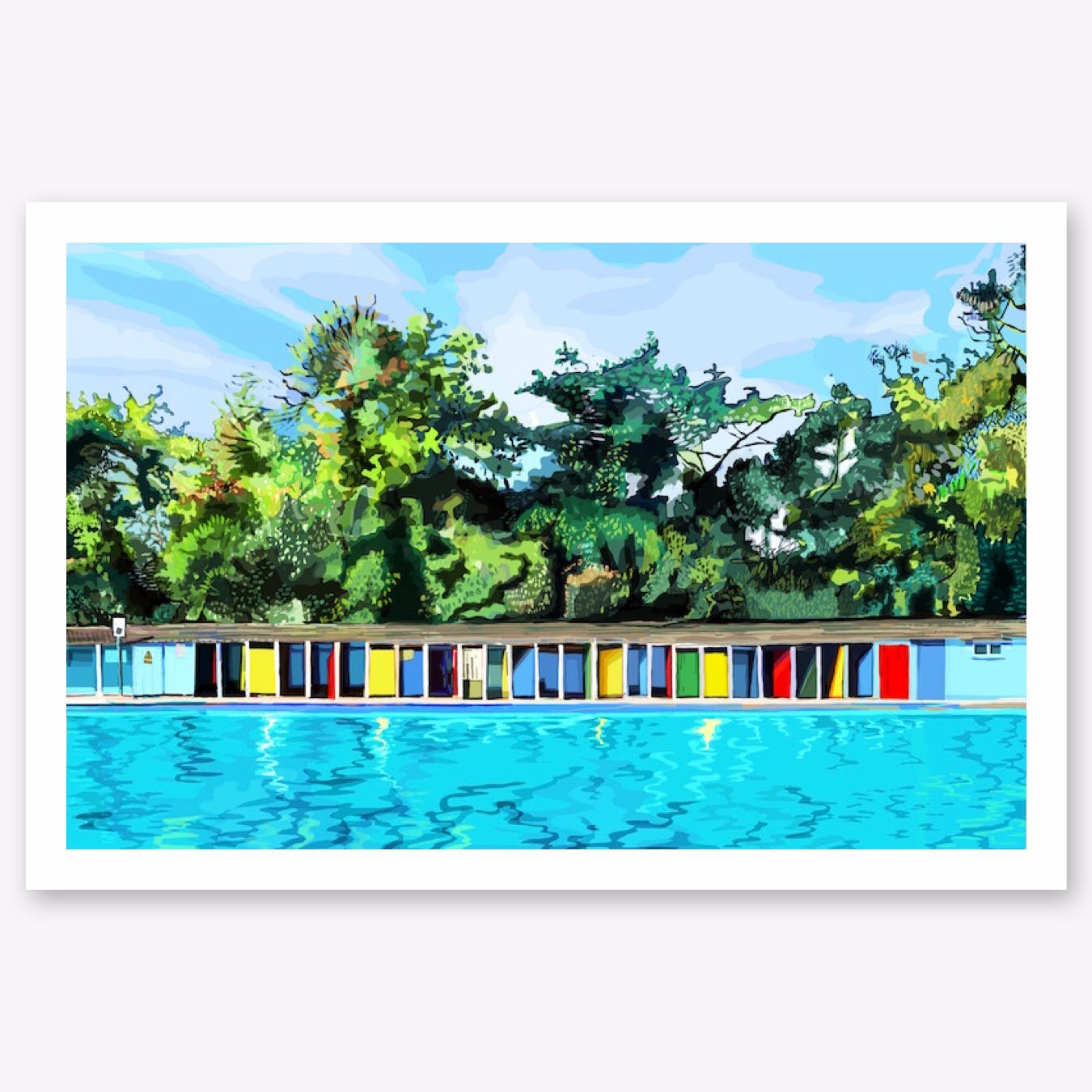 Tooting Bec Lido Art Print