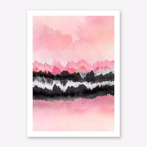 Pink Mountains Print