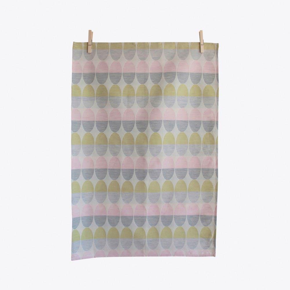 Olivia Light Pink Tea Towel