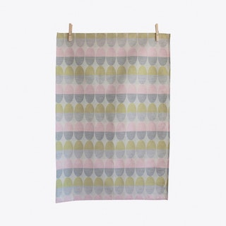 Olivia Light Pink Tea Towel