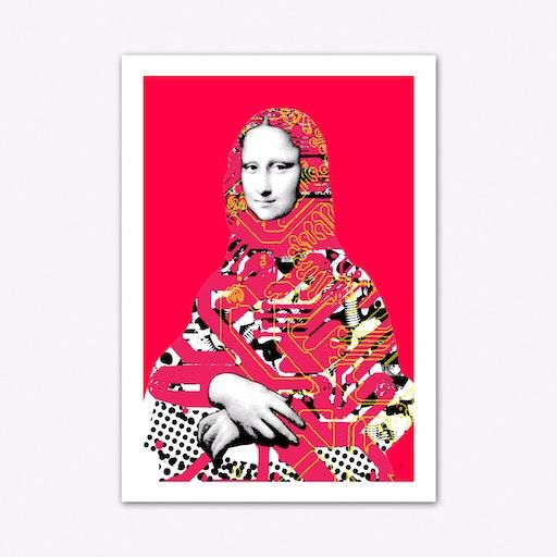 Mona Lisa Platina Art Print