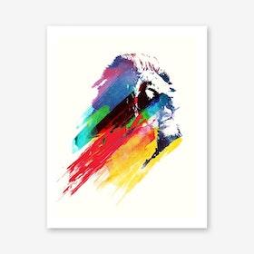 Our Hero Lion Art Print