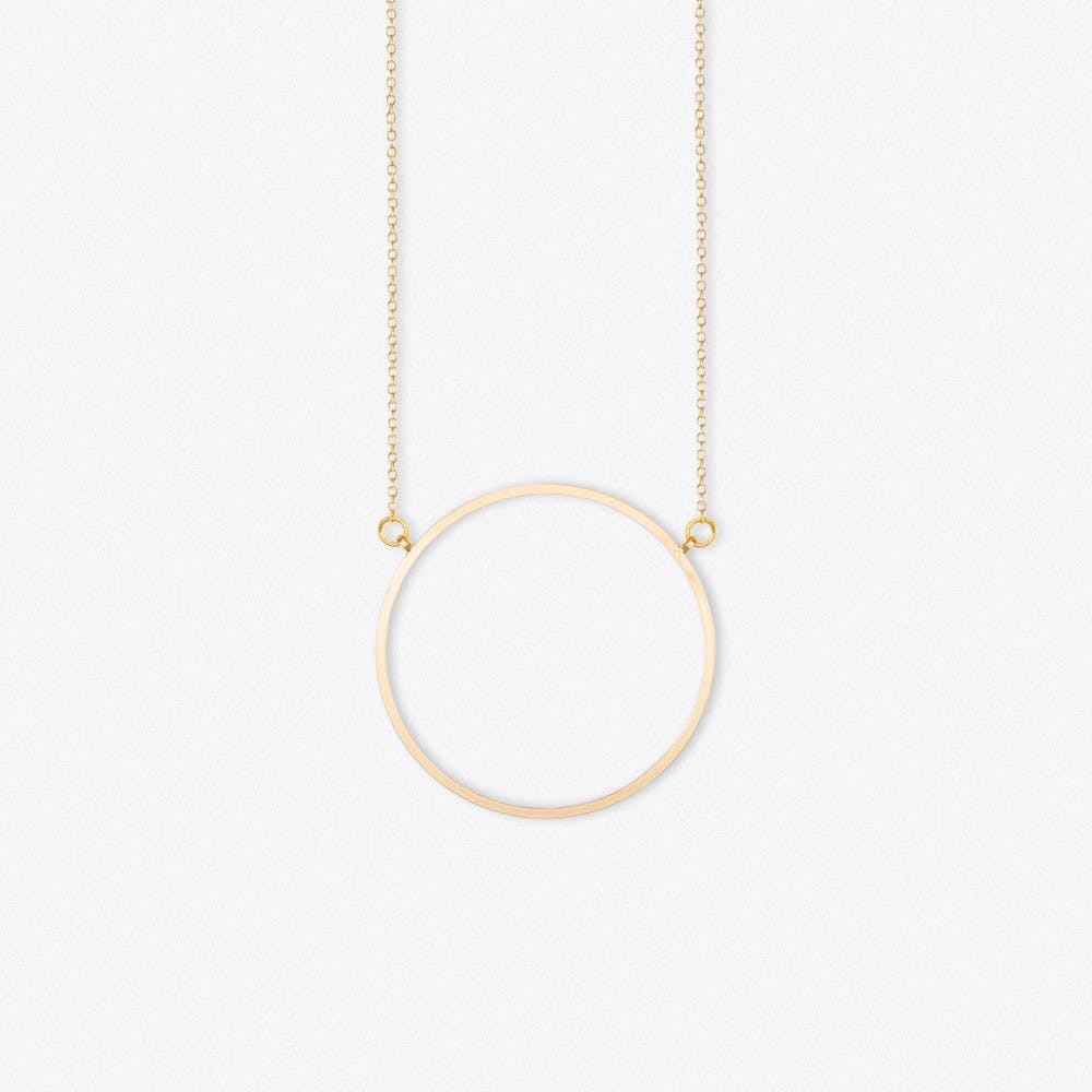 Oversized Circle Long in Gold