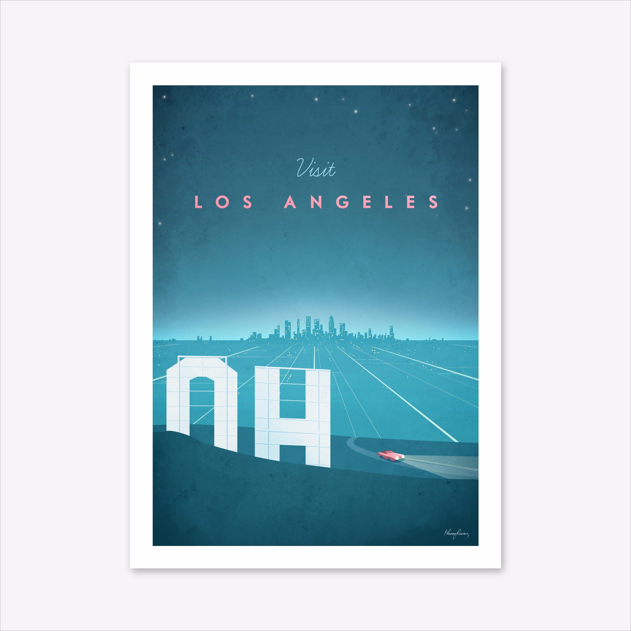 Visit Los Angeles Art Print