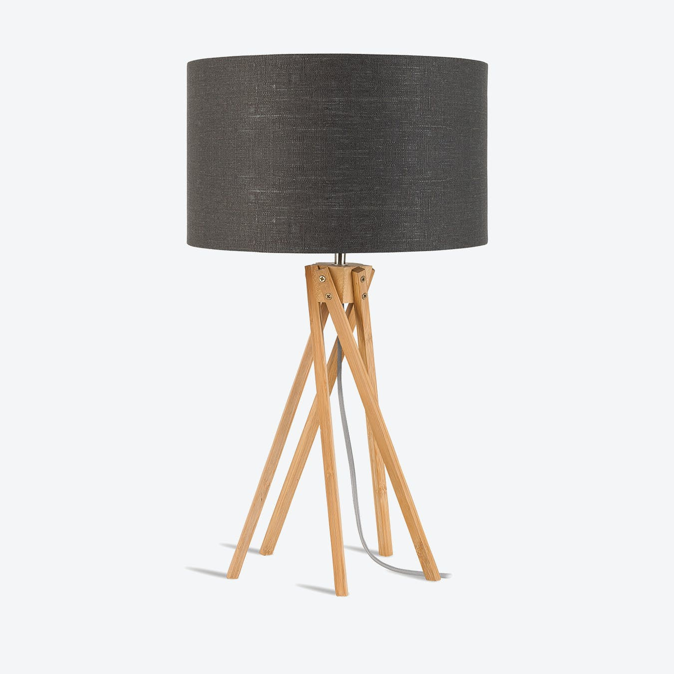 Dark Grey Table Lamp – Curated Living