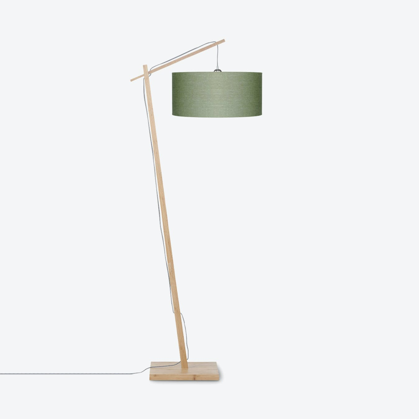 Andes Floor Lamp Linen Green Forest