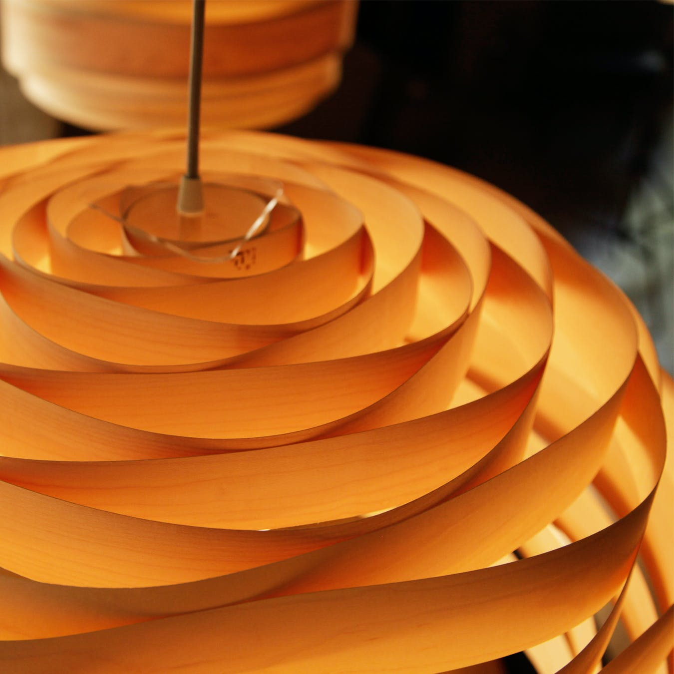 Light Cloud Lampshade in Maple Veneer