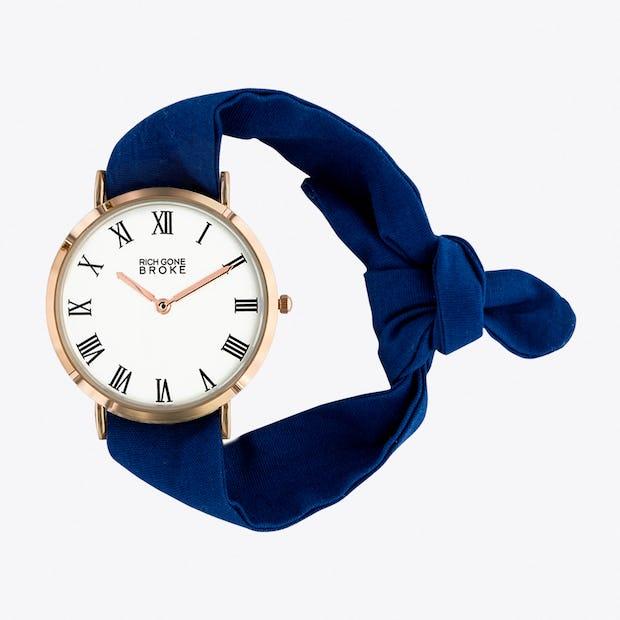 the marcel watch in blue by rich gone broke. Black Bedroom Furniture Sets. Home Design Ideas