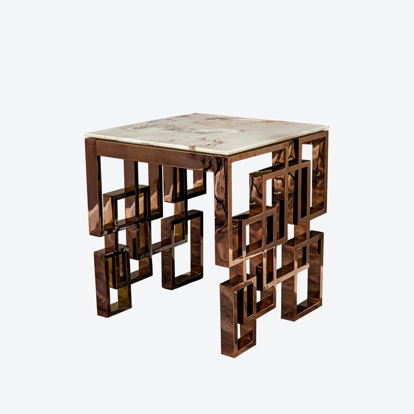 Marble Glass Rose Gold Side Table By Native Lifestyle Fy