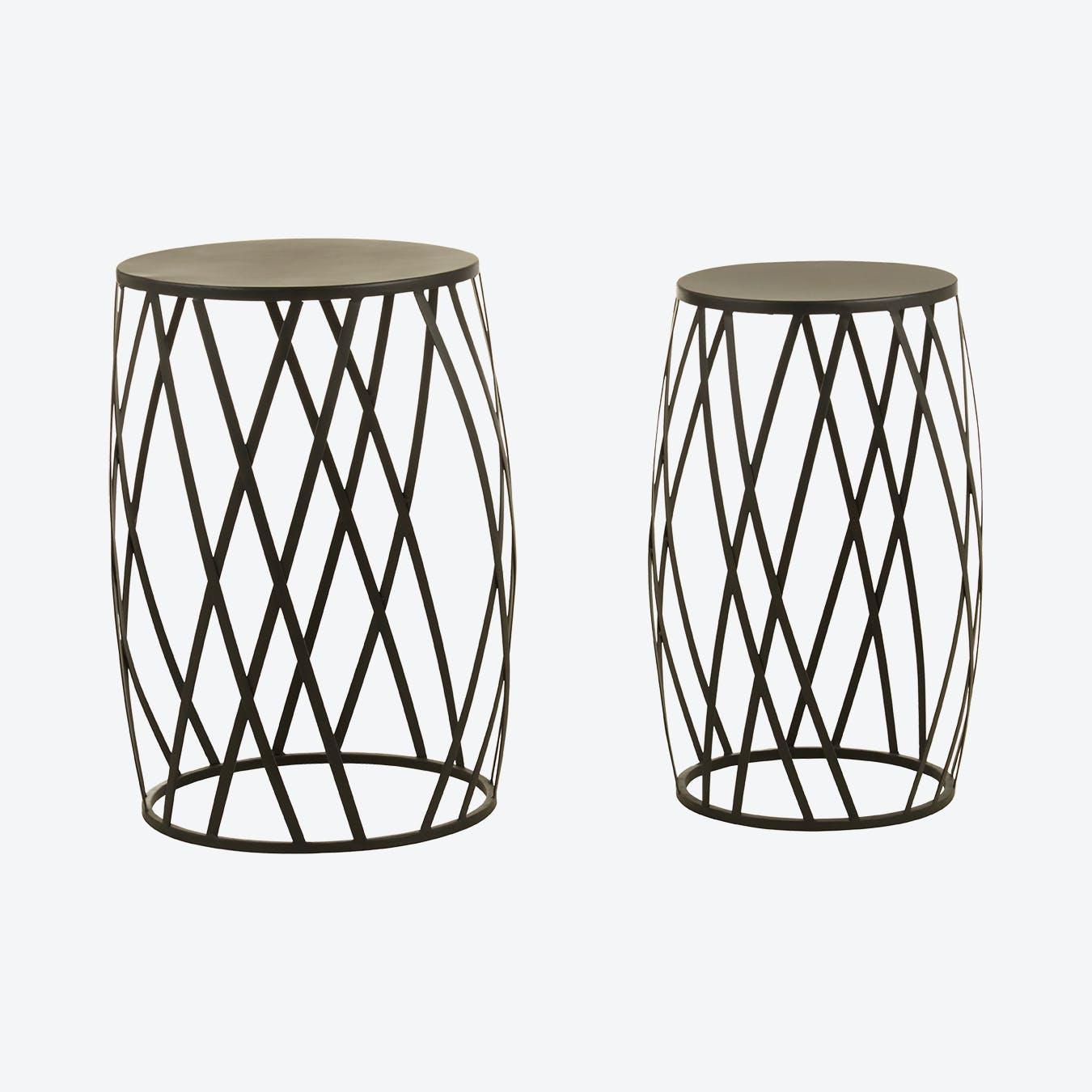 Avantis Set of 2 Tall Side Tables