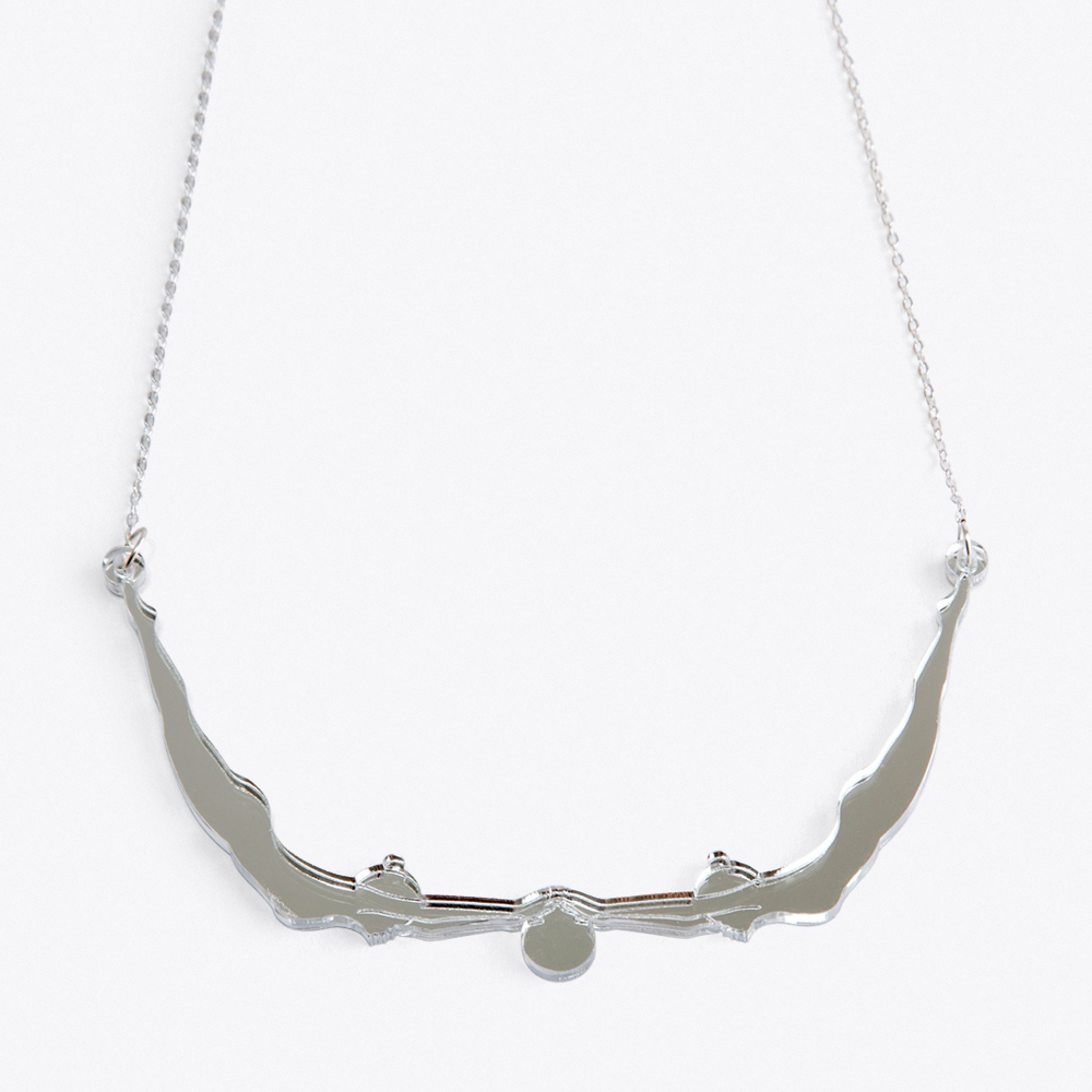 Delicate Acrobat Necklace in Silver