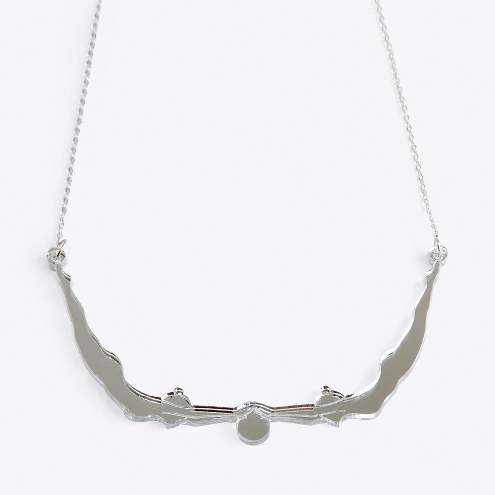 Delicate Acrobat Necklace in Silver