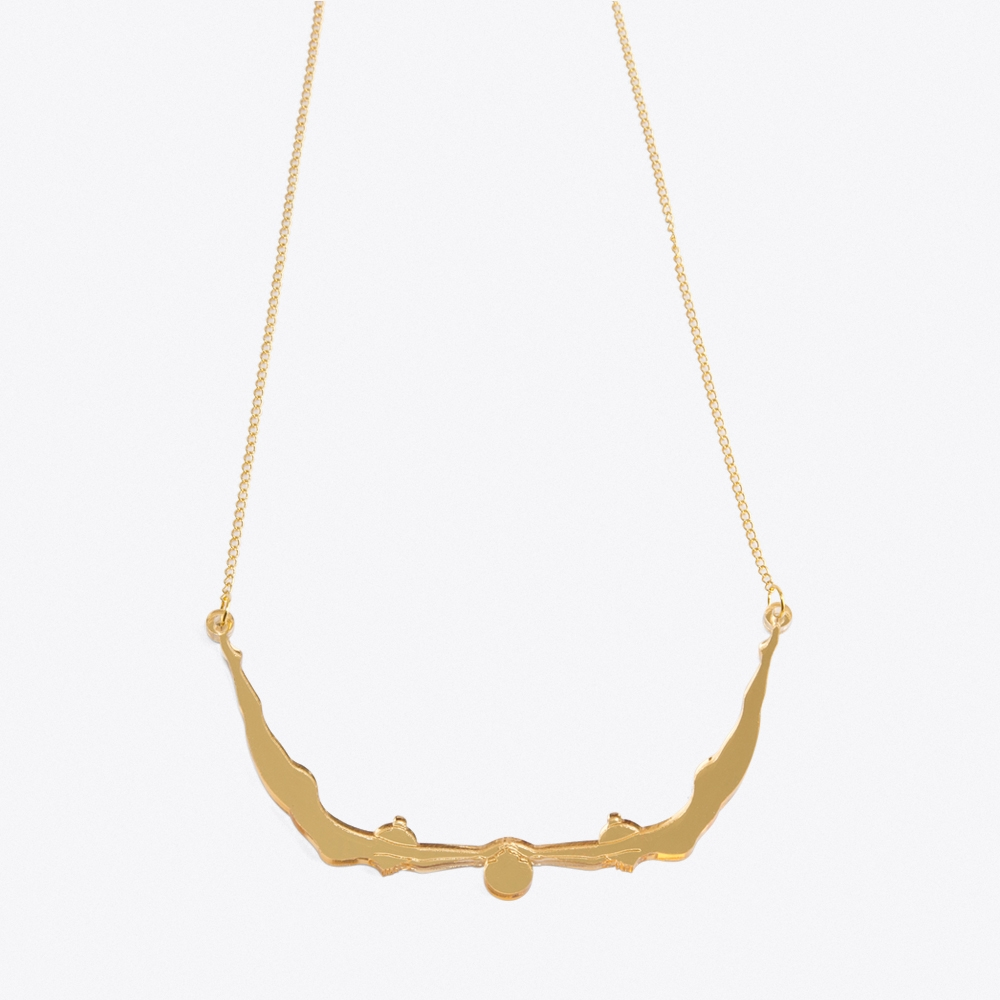 Delicate Acrobat Necklace in Gold
