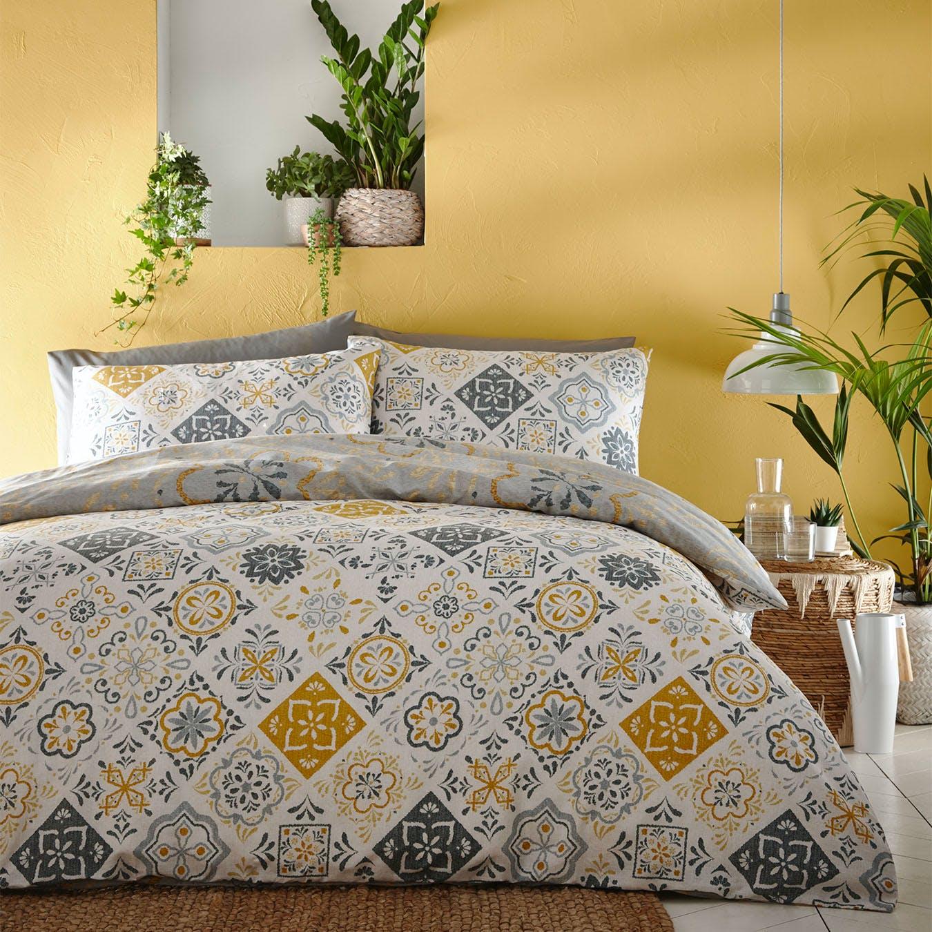 Art Moroccan Blue Double Quilt Duvet