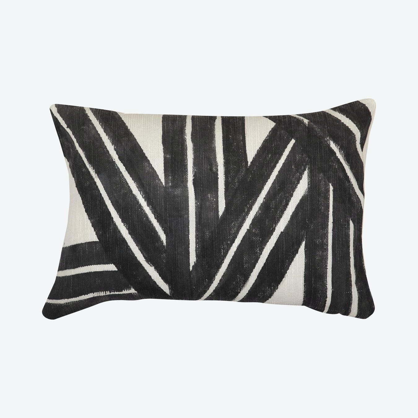 Black White Body Pillow Cover Leaf