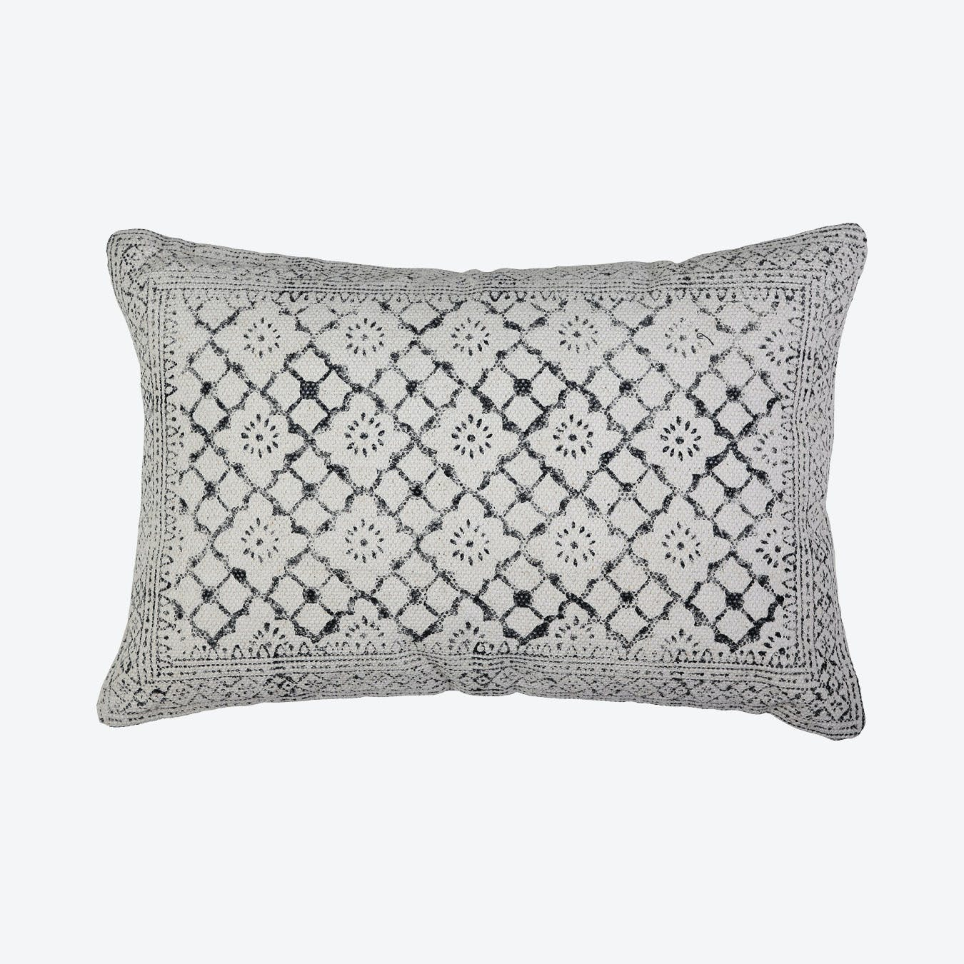 Hand Block Print Blanket Pillow