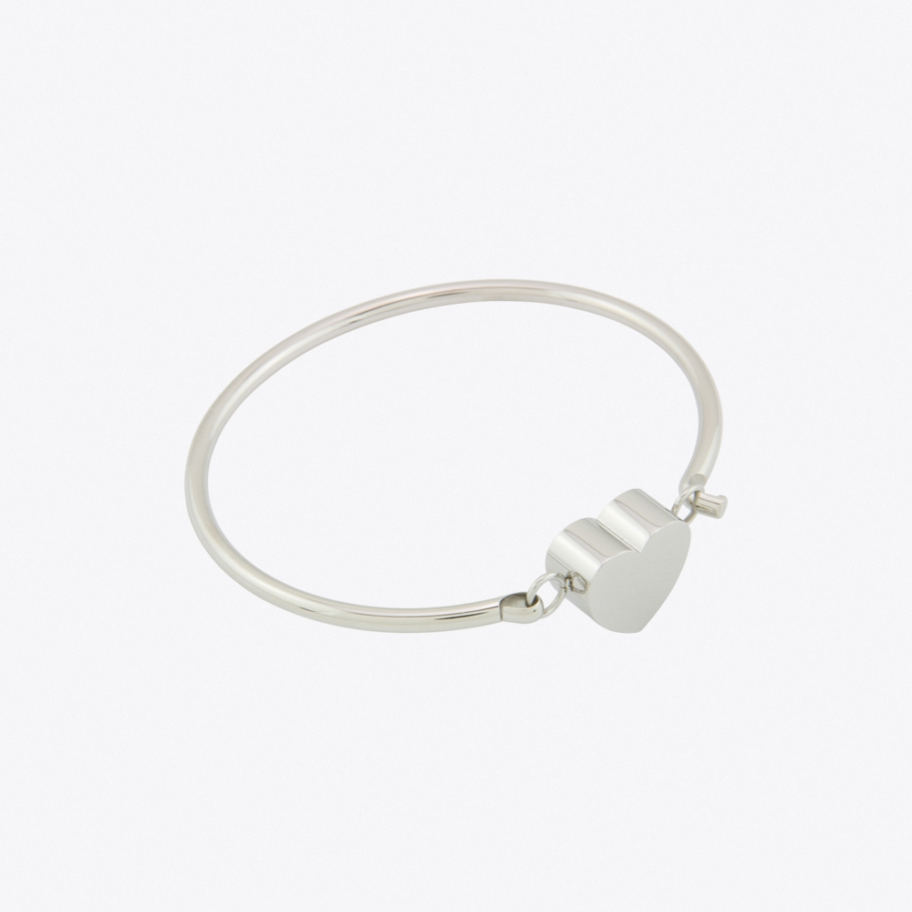 Candy Heart Bangle Stainless Steel
