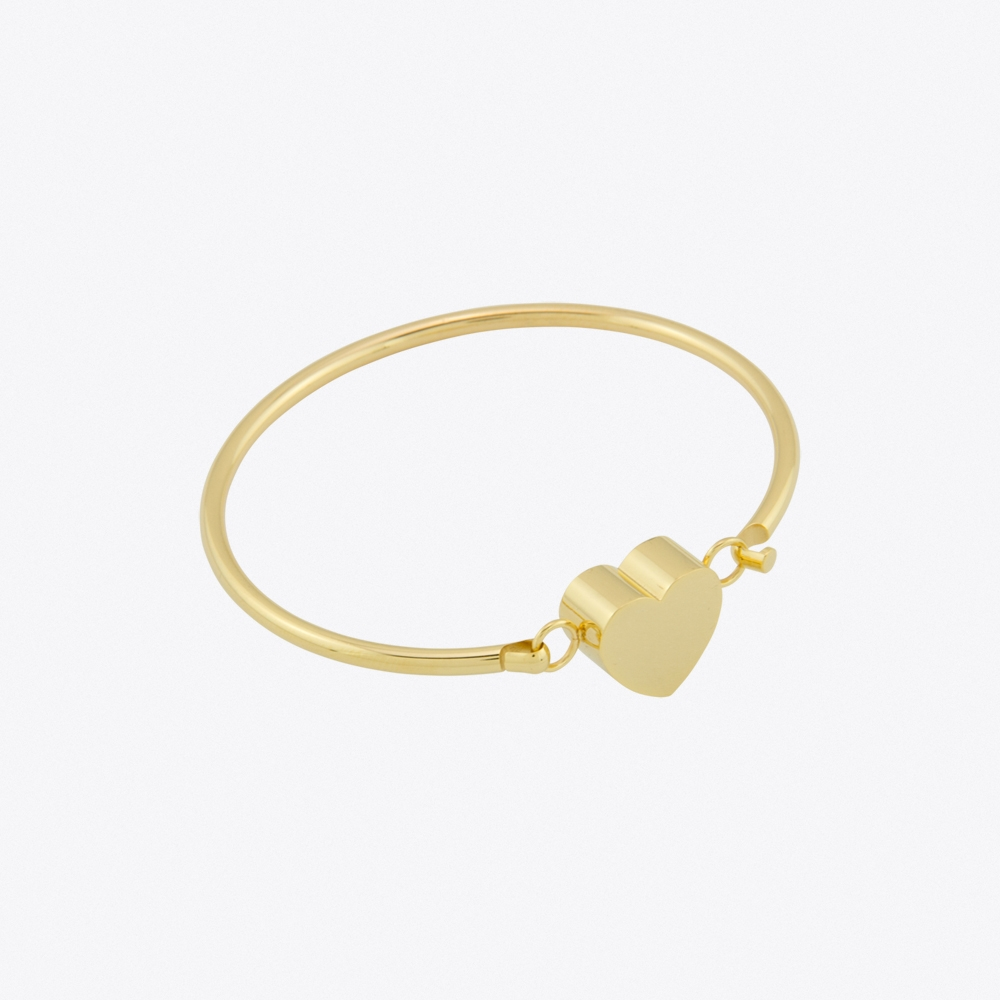 Candy Heart Bangle in Gold