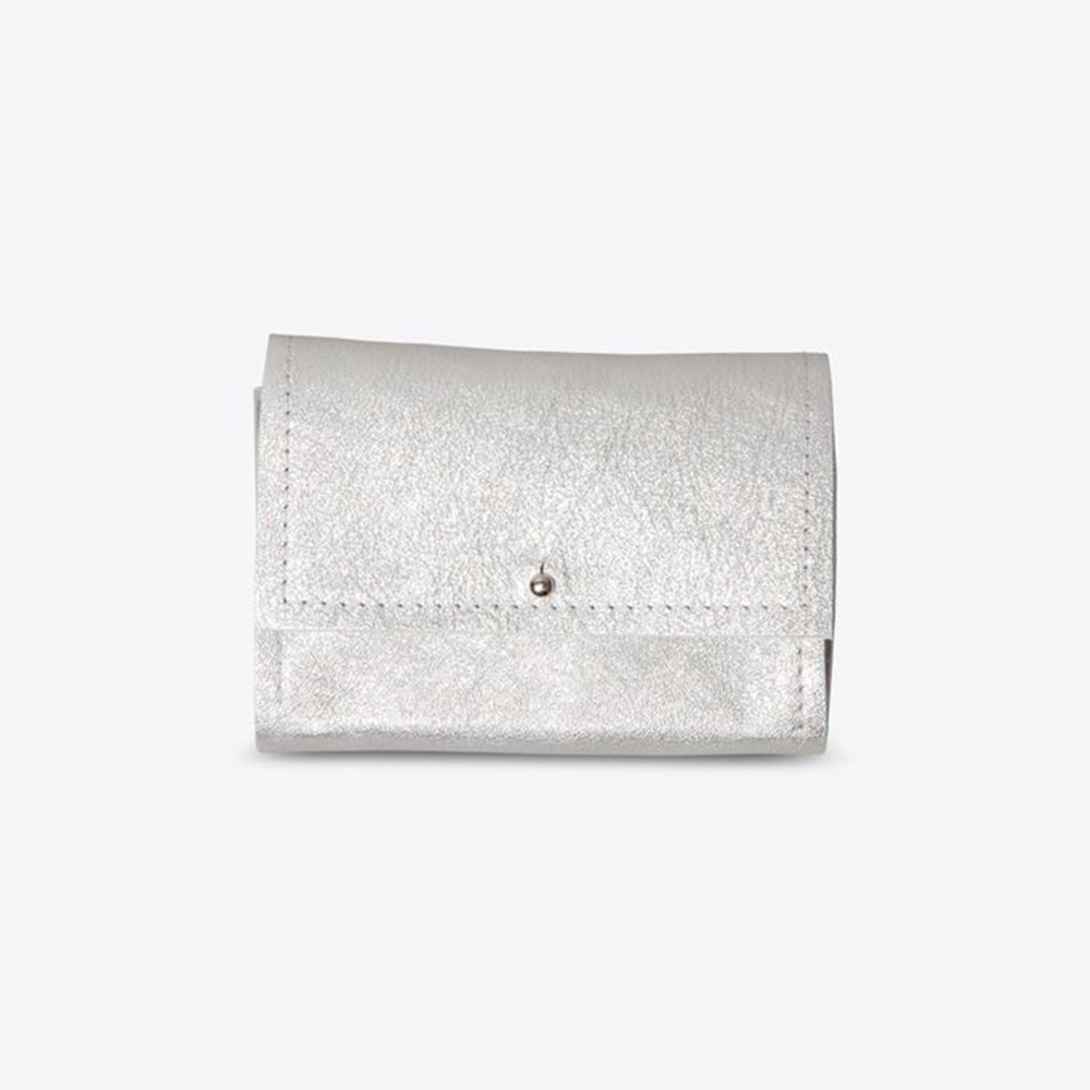 The Mini Wallet in Silver