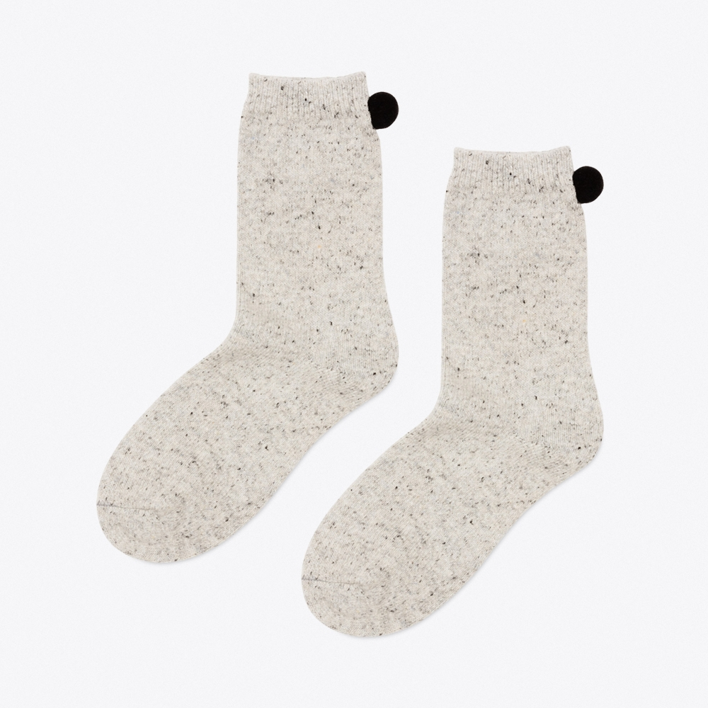 Heidi Crew Socks in Heather Grey