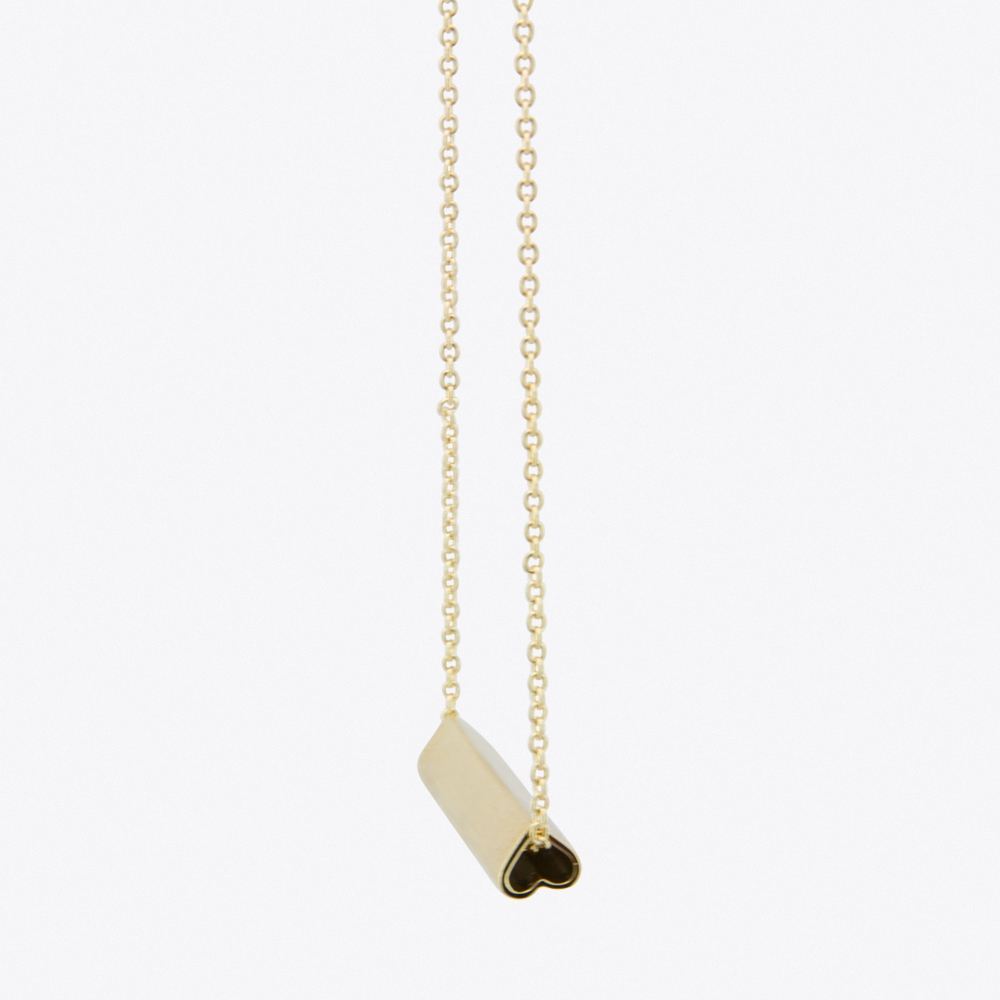 Heart Bar Necklace in Gold