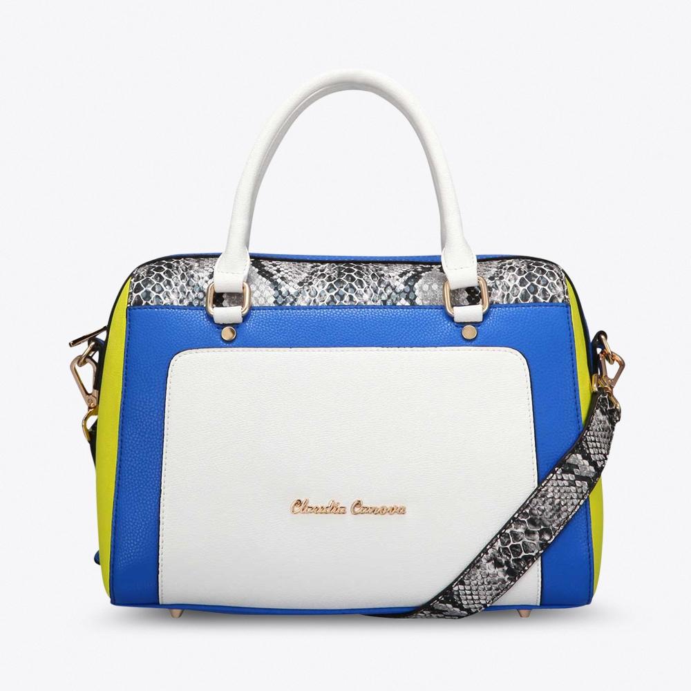 Rosa Bowling Bag in Snake Print