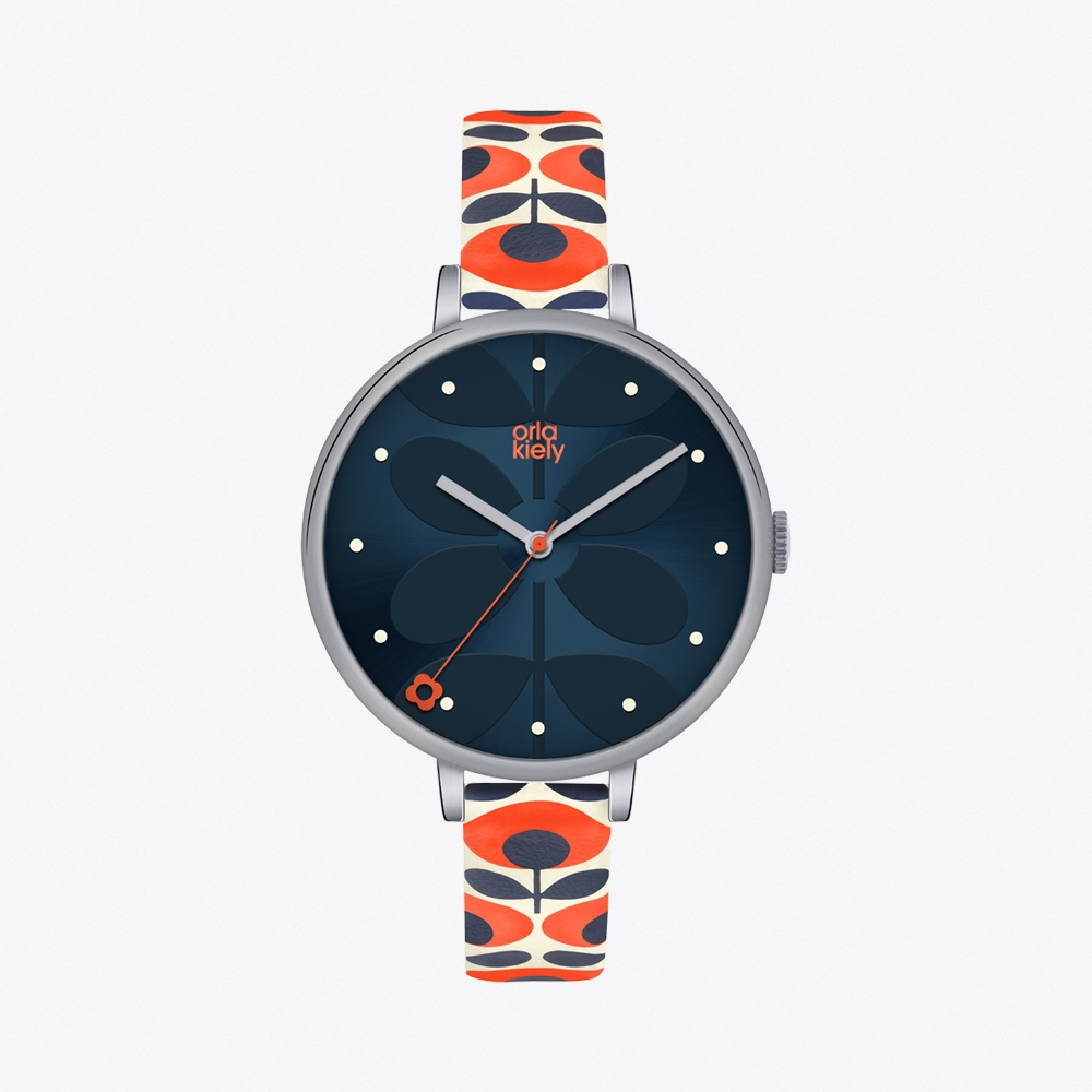 Ivy Watch in Navy & Floral