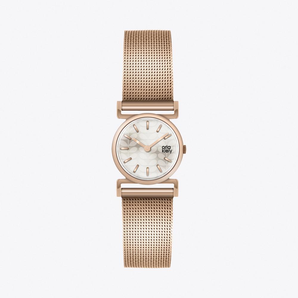 Cecelia Watch in Navy & Gold
