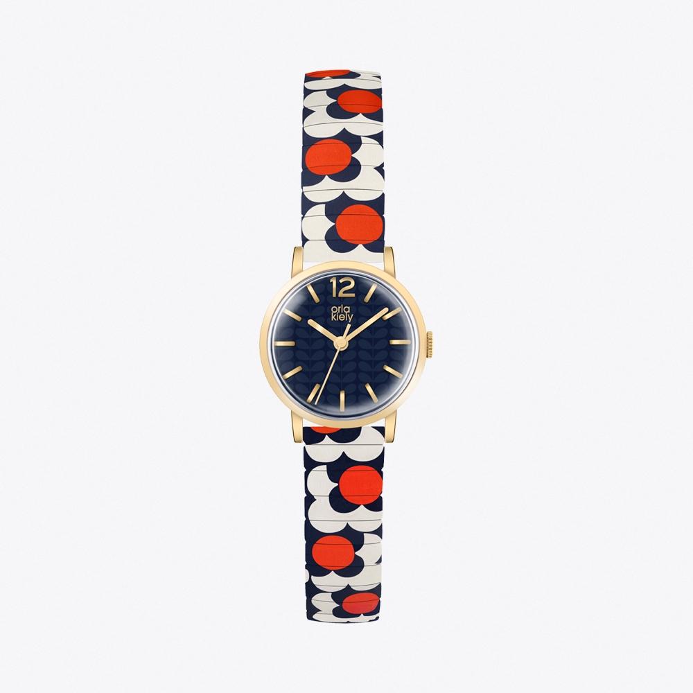 Flower Pop Watch in Navy