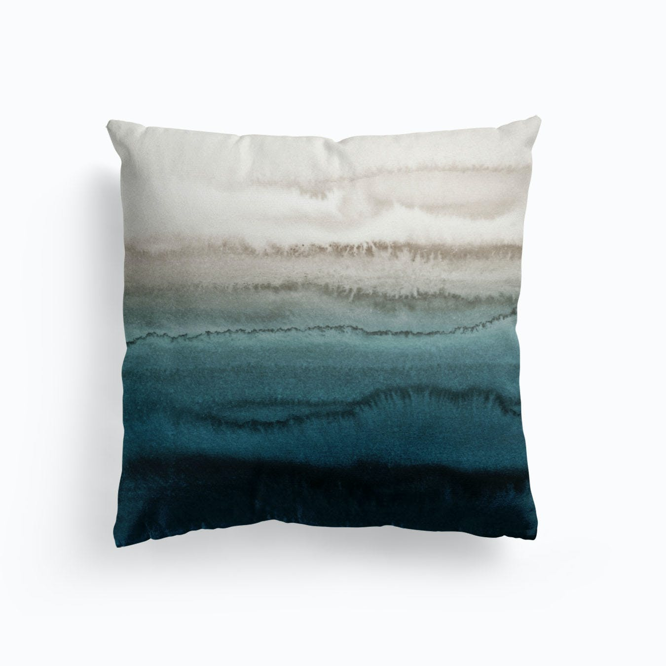 Teal Pillow Cover, Teal White Pillow