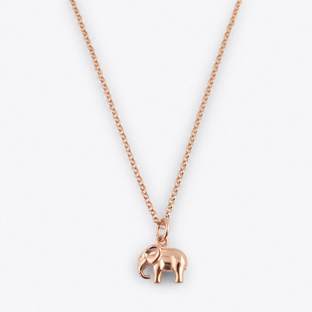 Rose Gold Elephant Charm by Lily Charmed cICVH3SkOZ