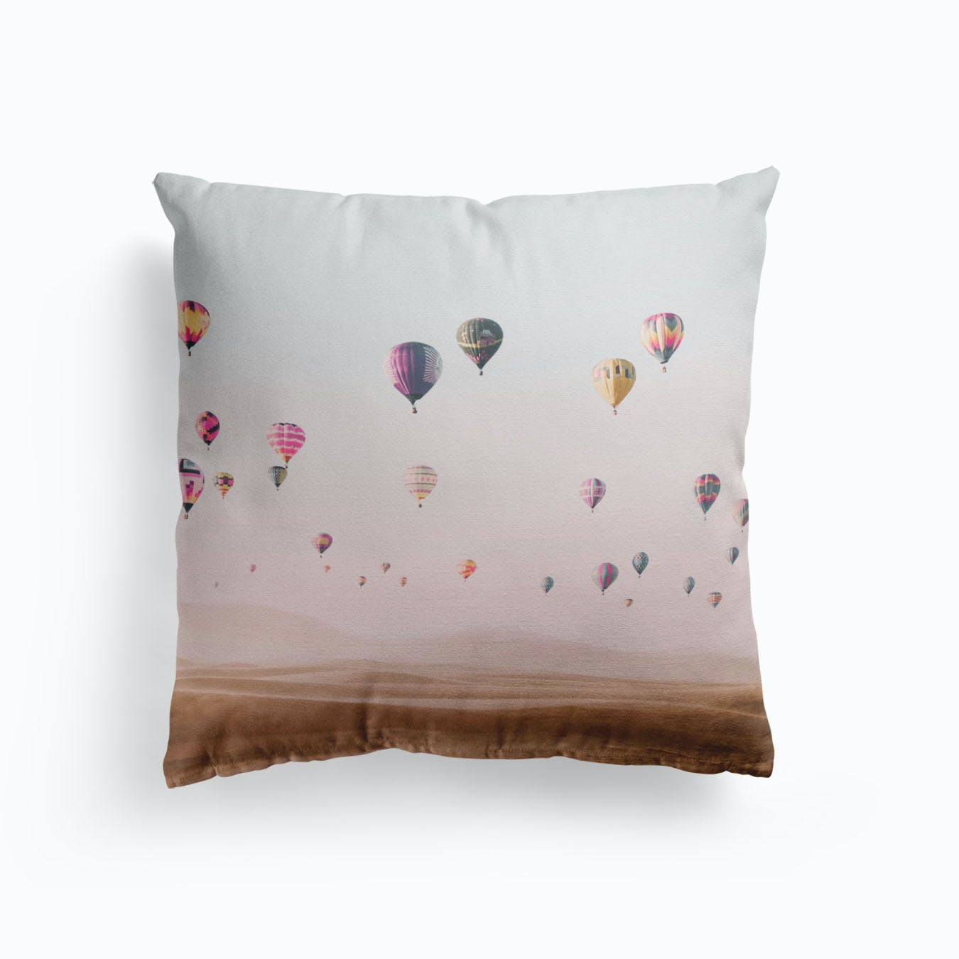 Pink Gum Faux Suede Square Pillow Case
