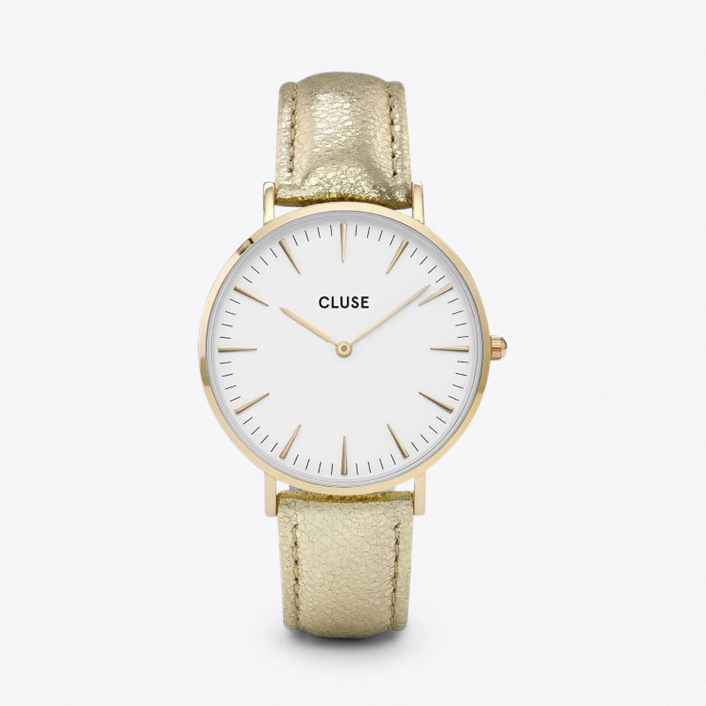 la bohème watch in gold & gold metallic