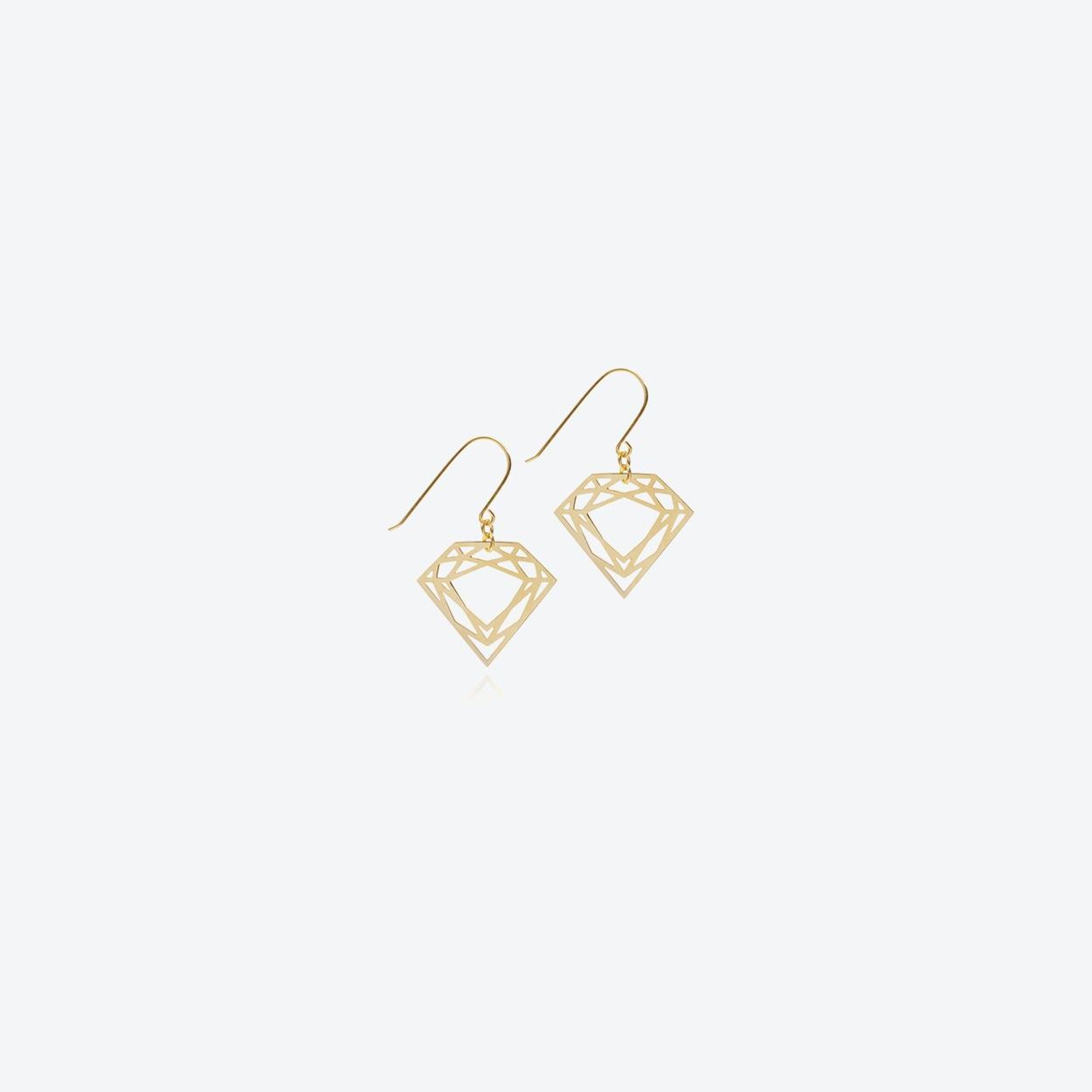 Classic Diamond Drop Earrings in Gold
