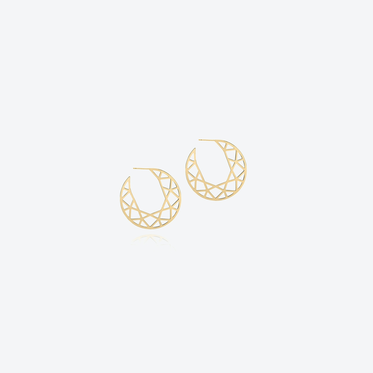 Large Brilliant Diamond Hoop Earrings in Gold