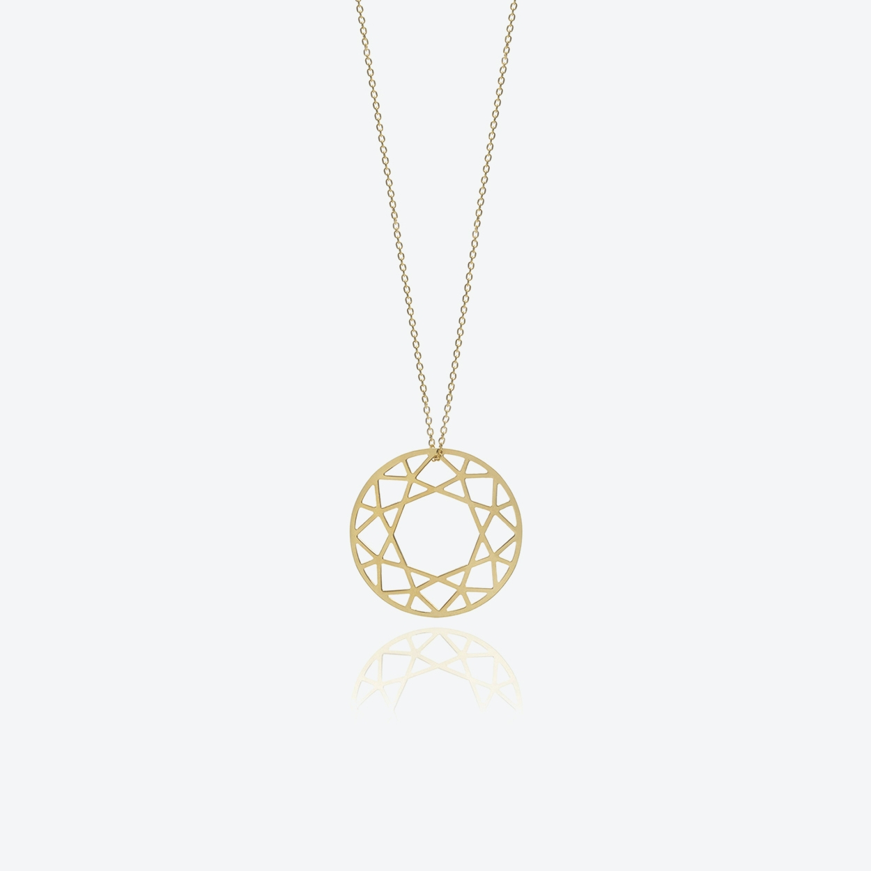 Large Brilliant Diamond Necklace in Gold