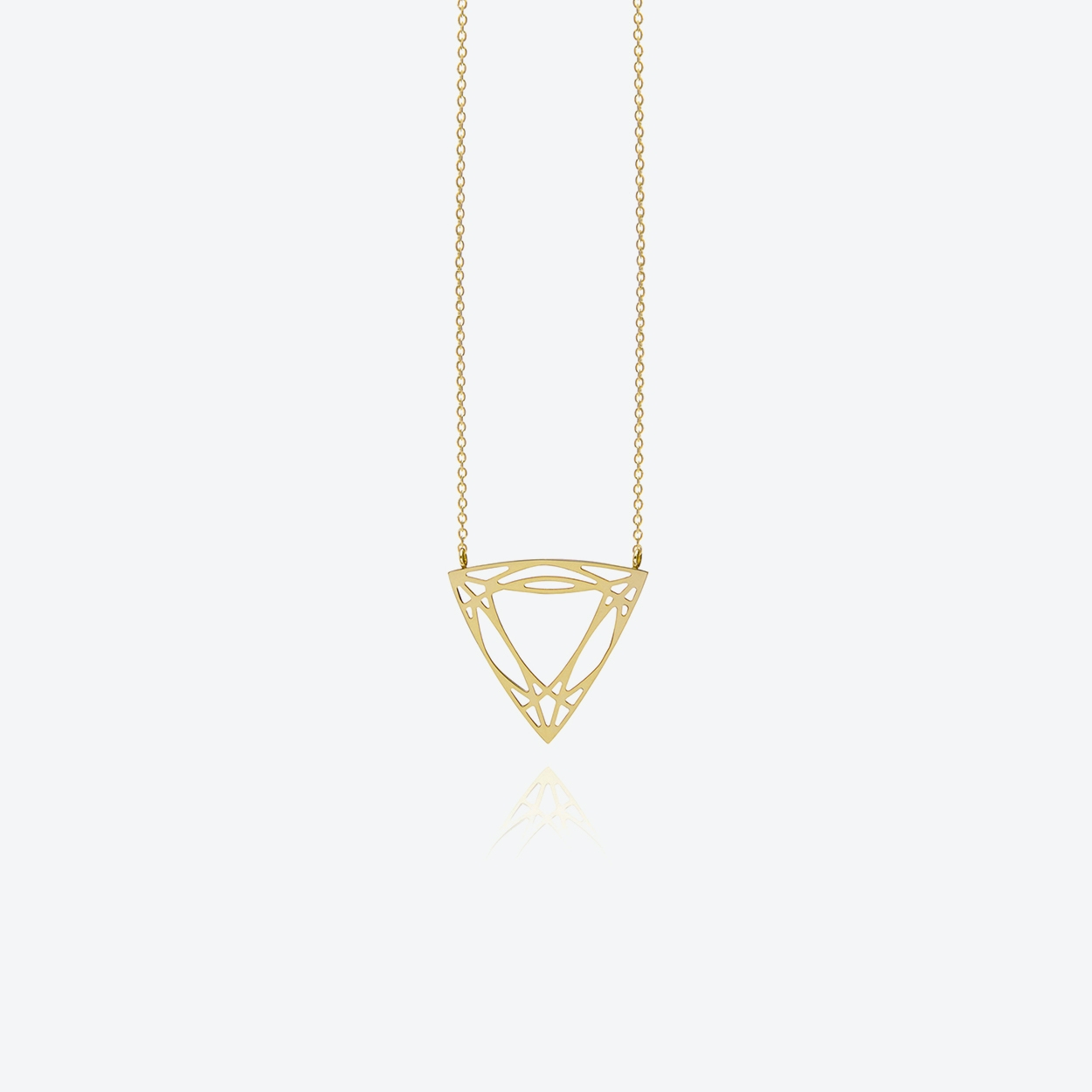 Trillion Diamond Necklace in Gold