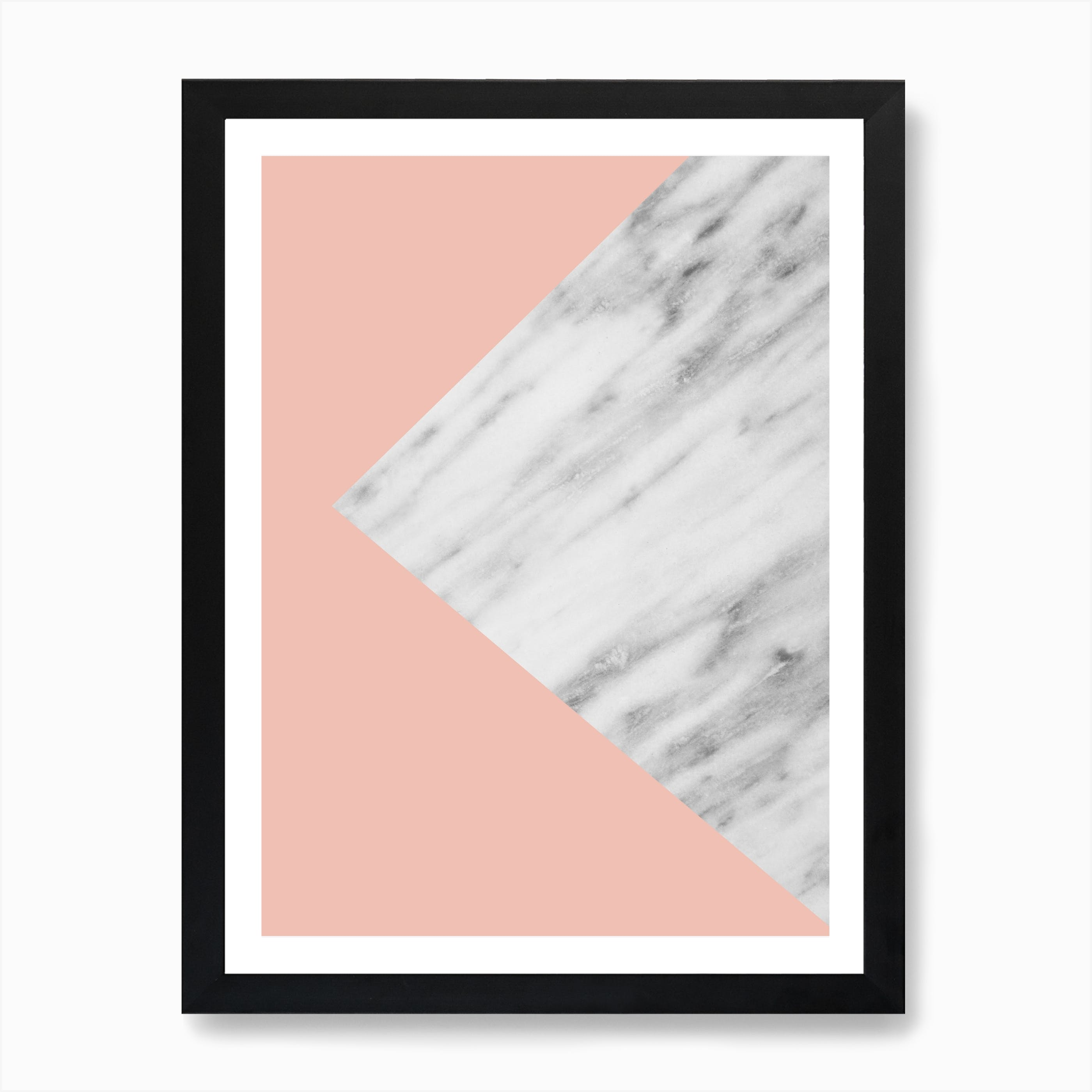 Pink Marble Collage Print Free Shipping Fy